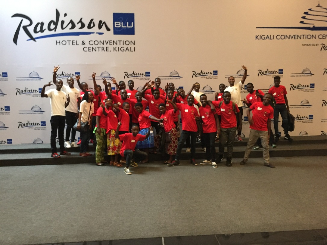 ASEF honor students visiting Kigali Convention Center during Coming to Kigali 2018