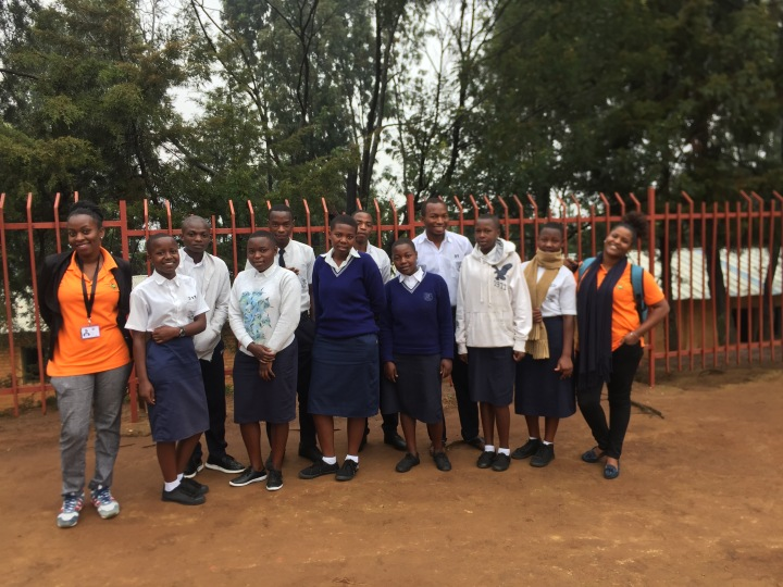 Photo with students at APEKI Tumba